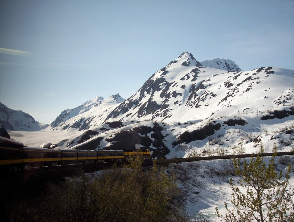 Leaving Anchorage by Rail Anchorage Alaska United States