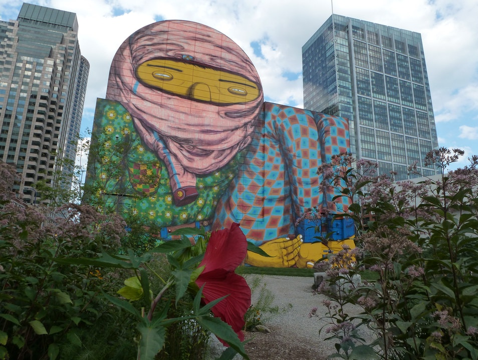 Art and Gardens on Boston's Dewey Square Boston Massachusetts United States