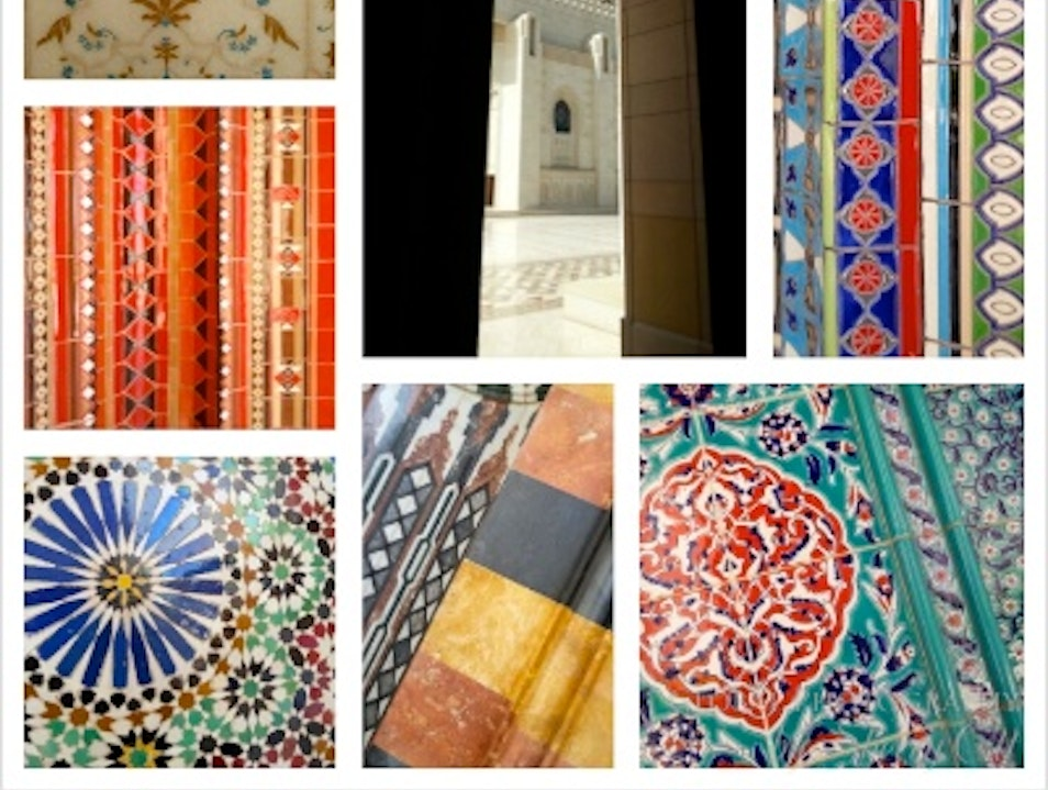 Tiles of The Grand Mosque Oman Muscat  Oman