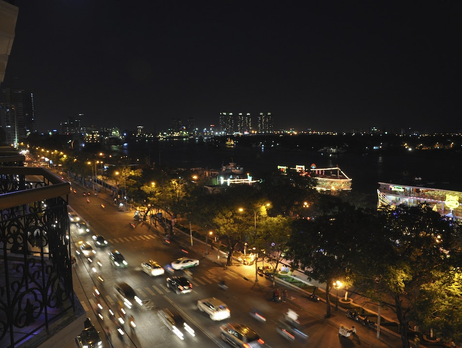 Night view from Hotel Majestic Ho Chi Minh City  Vietnam