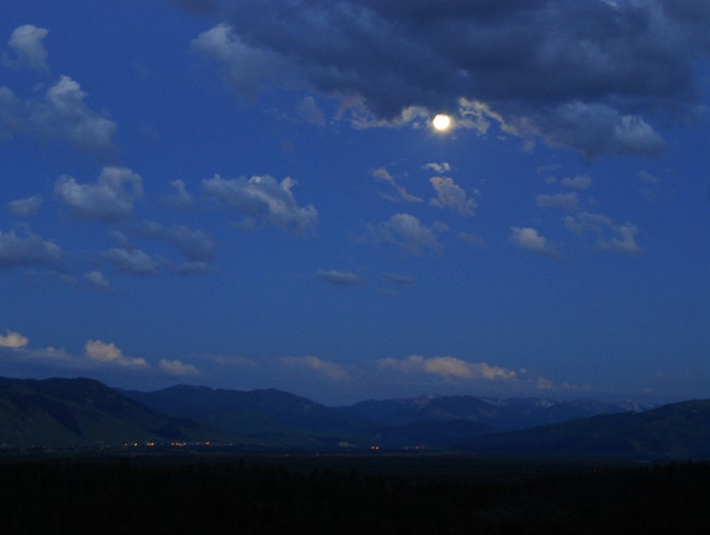 Full Moon, Jackson Hole