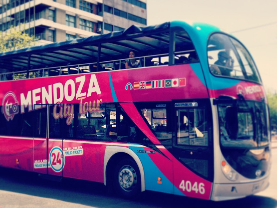 Hop-On Hop-Off City Bus Tour Mendoza  Argentina