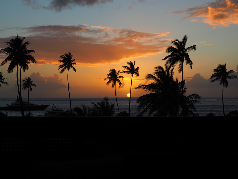 Sunset at Sugar Beach Viceroy Resort, St. Lucia Soufriere  Saint Lucia