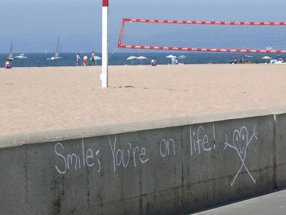 Smile! Unlikely Art on Life Manhattan Beach California United States