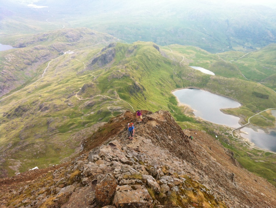 Crib Goch and the Snowdon Horseshoe Nant Peris  United Kingdom
