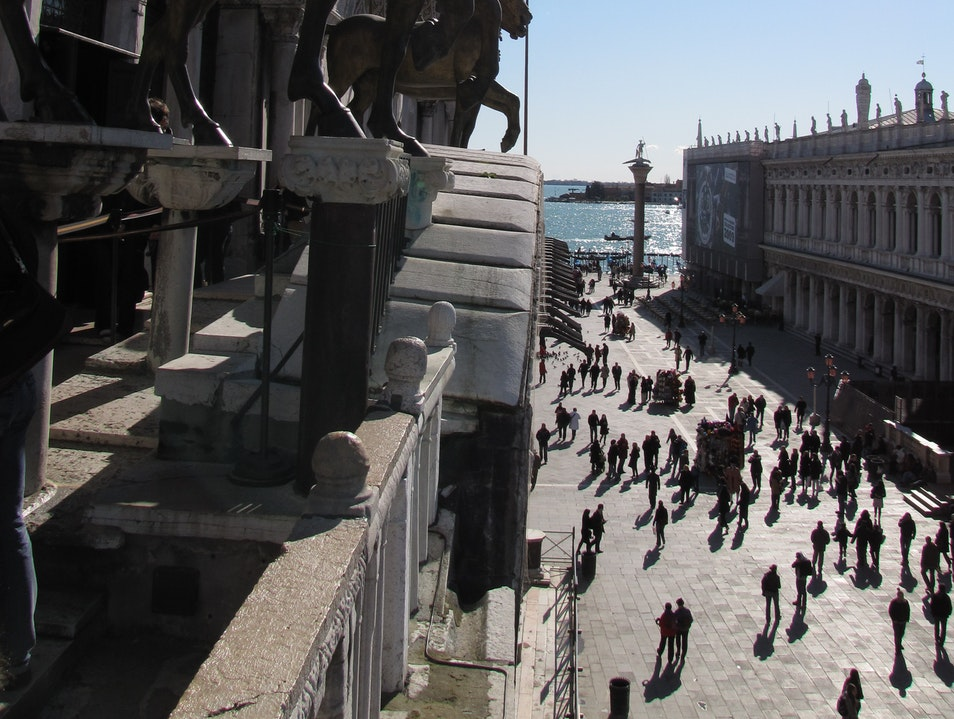 The View from St Mark's Basilica Venice  Italy