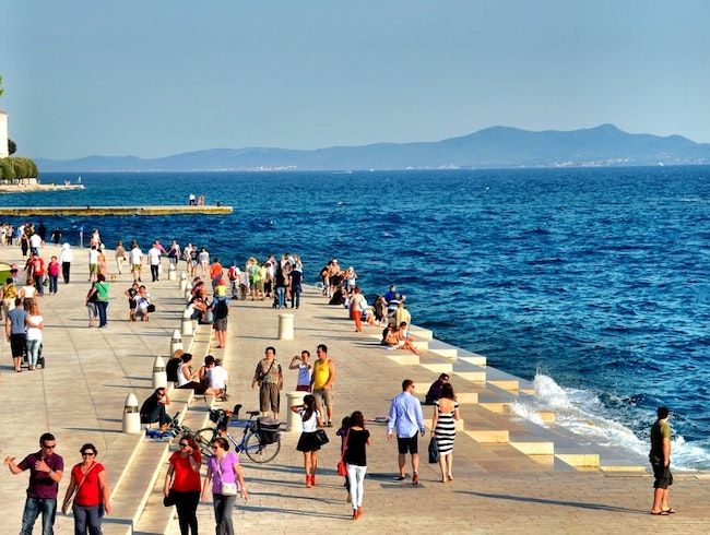 The sound of the sea in Zadar