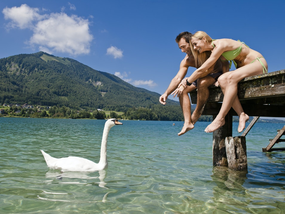 Relaxing on Lake Fuschl  Fuschl  Austria