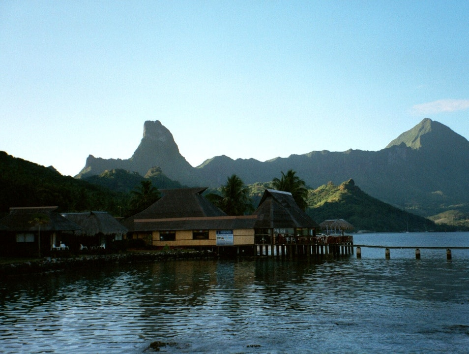 Morning light on Cook's Bay, Moorea, Tahiti Îles Du Vent  French Polynesia