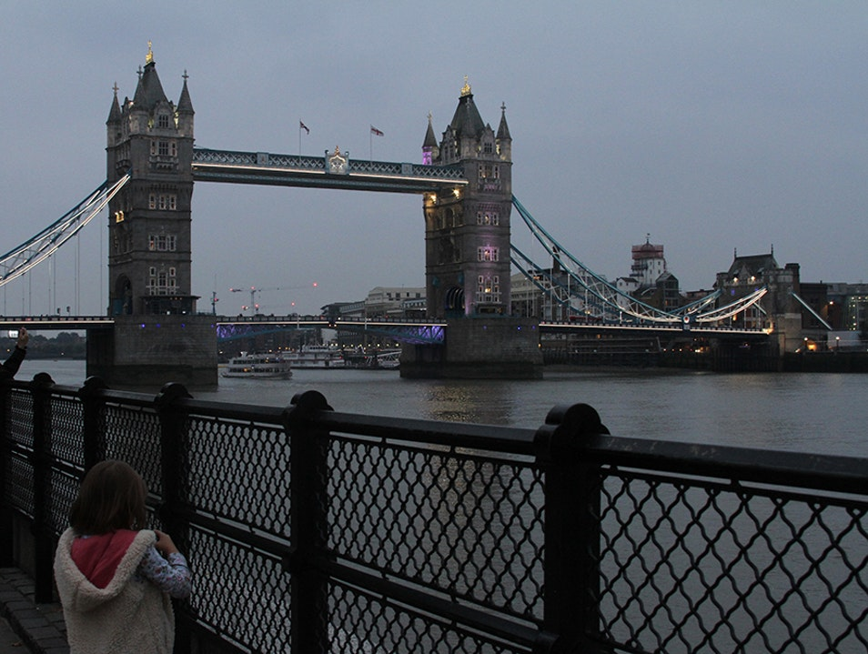 Walk Along River Thames to Tower Bridge London  United Kingdom