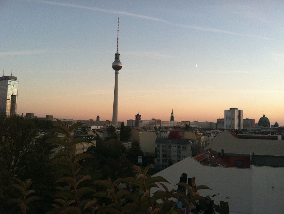 Rooftop Bar at the Wombat Hostel in Berlin, Germany