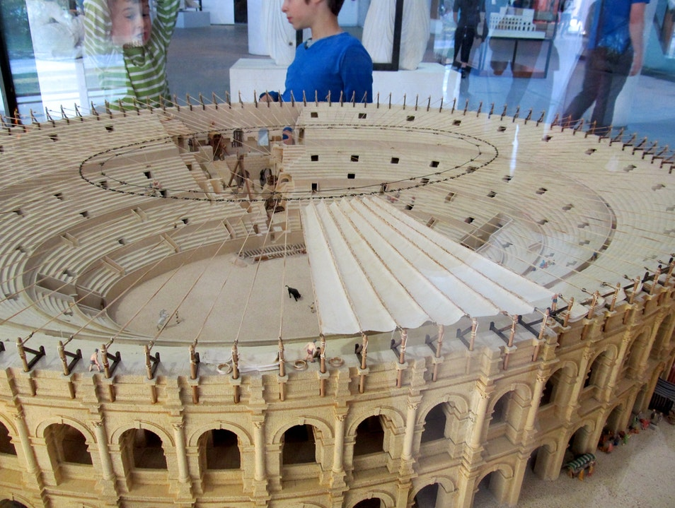 Amazing models of ancient Roman city Arles  France