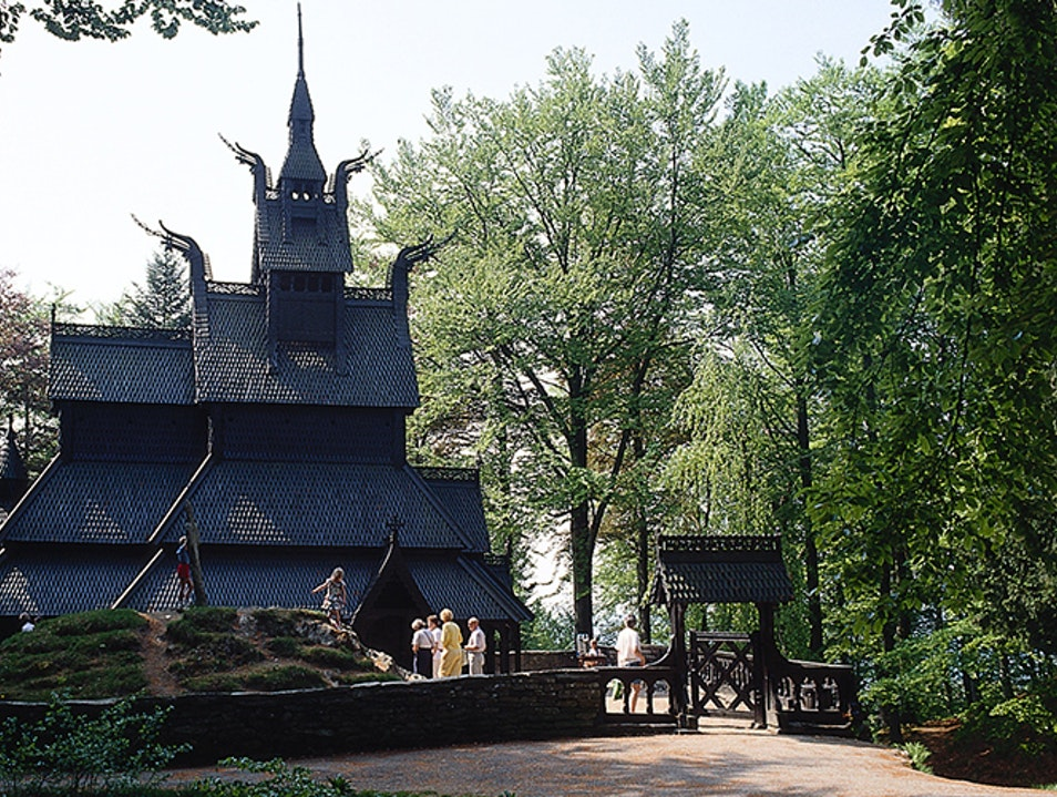 Fantoft Stave Church Bergen  Norway