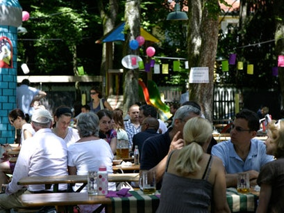 Menterschwaige Beer Garden Munich  Germany