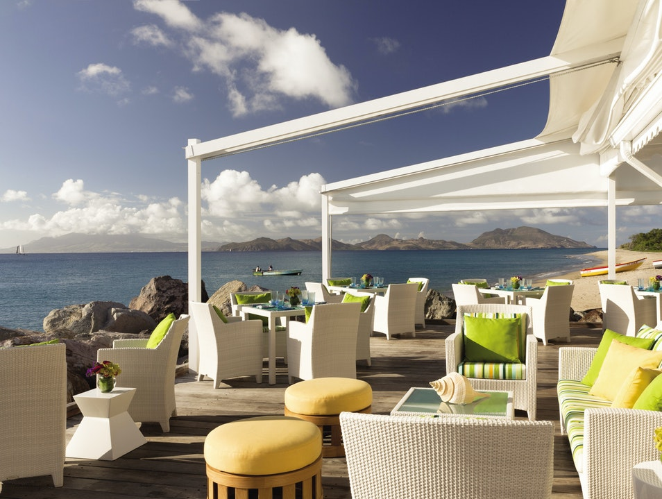 Dining on the Edge of the Caribbean Charlestown  Saint Kitts and Nevis
