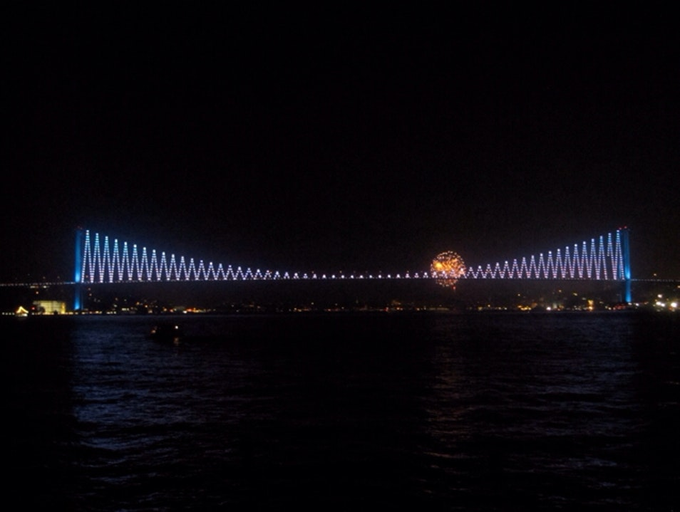 Istanbul's Bosphorus Bridge at Night Istanbul  Turkey