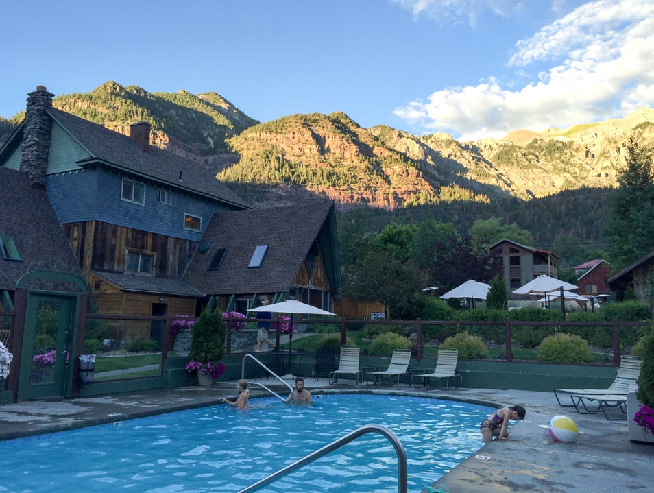 Ouray Hotel with its own hot springs Ouray Colorado United States