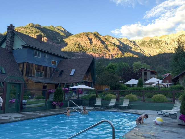Ouray Hotel with its own hot springs