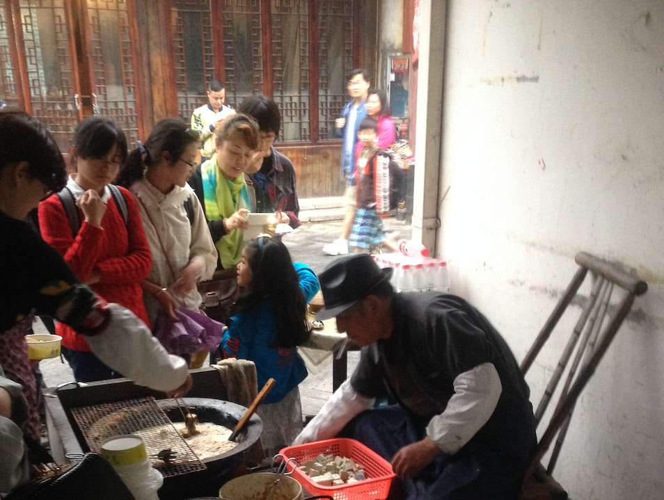 Snacking on Stinky Tofu Near the Grand Canal in Hangzhou Hangzhou  China