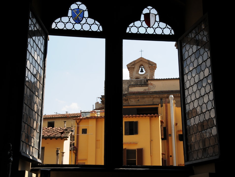 Through the Museum Window Florence  Italy