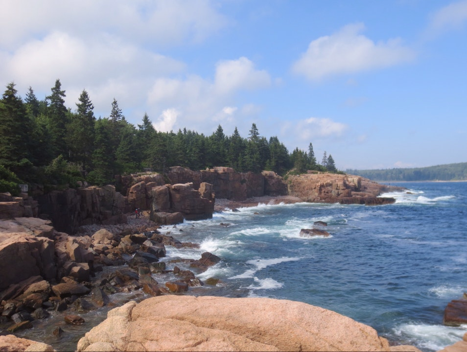 Rocks By Thunder Hole Winter Harbor Maine United States