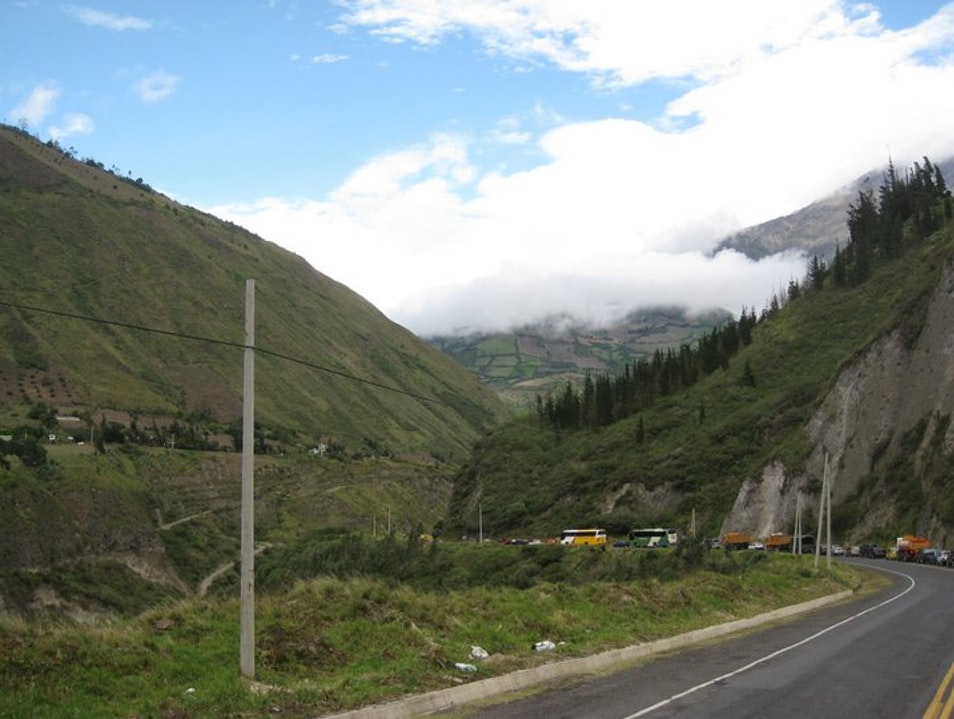 are we there yet?! - on the way to Banos Baños  Ecuador