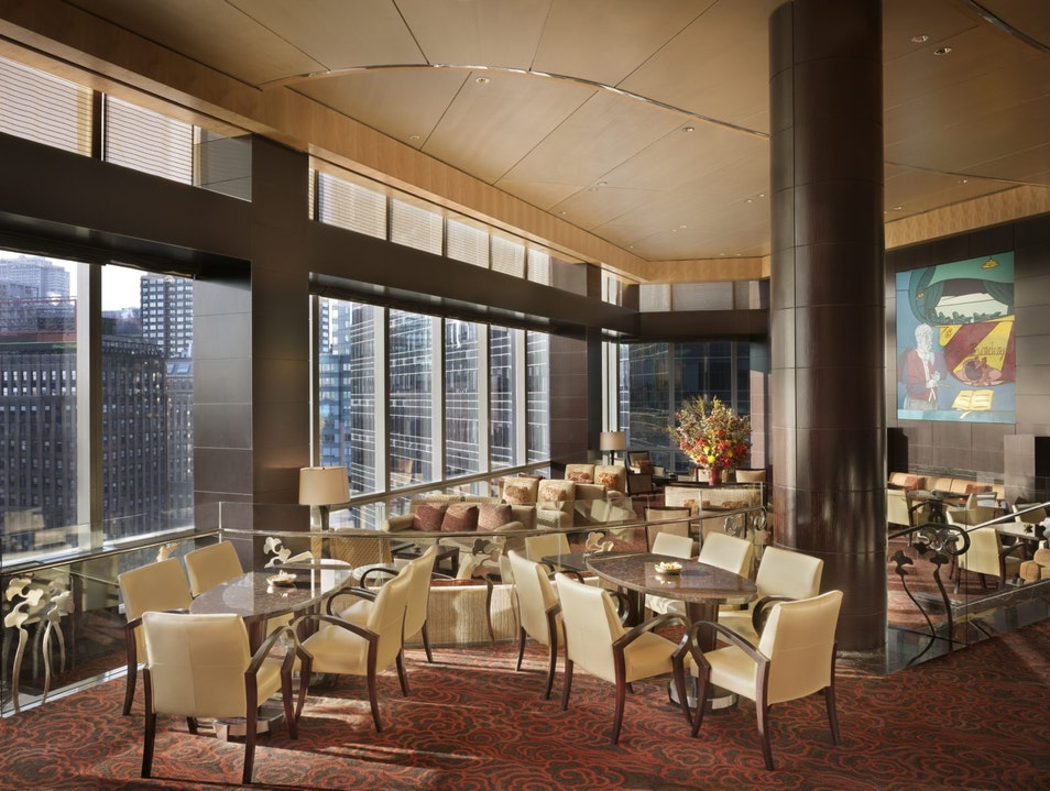 The Lobby Lounge at The Mandarin Oriental  New York New York United States