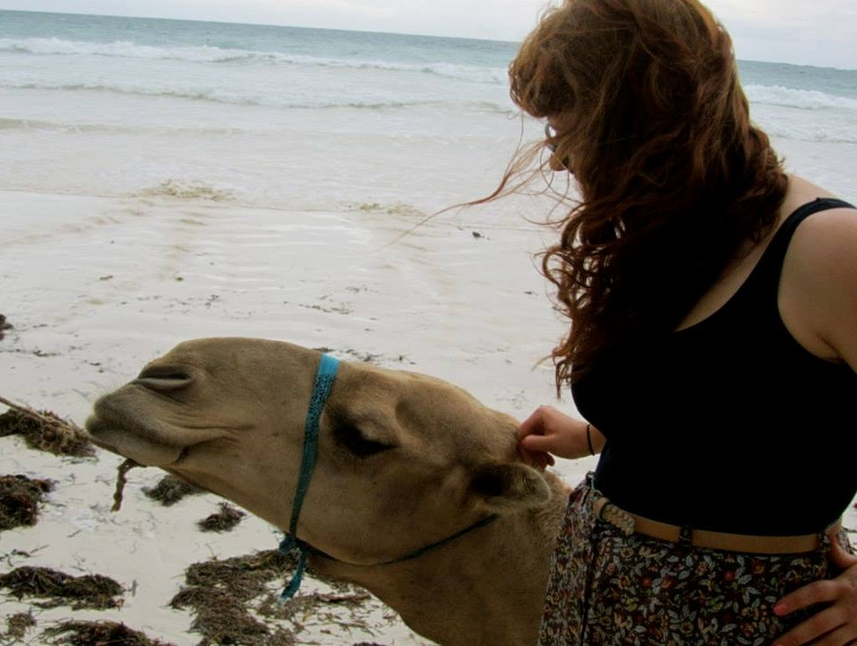 Riding Camels on the Beach