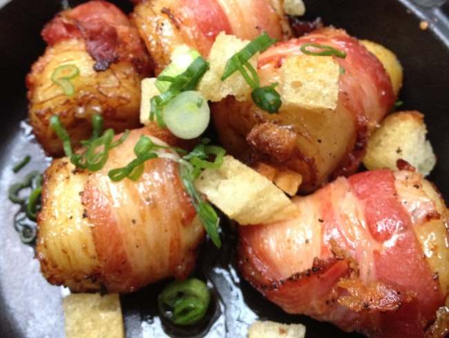 Bacon Wrapped Bananas