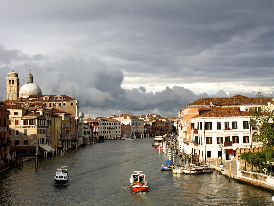 After a rainstorm Venice  Italy