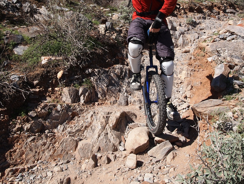 Mountain Unicycling! Phoenix Arizona United States