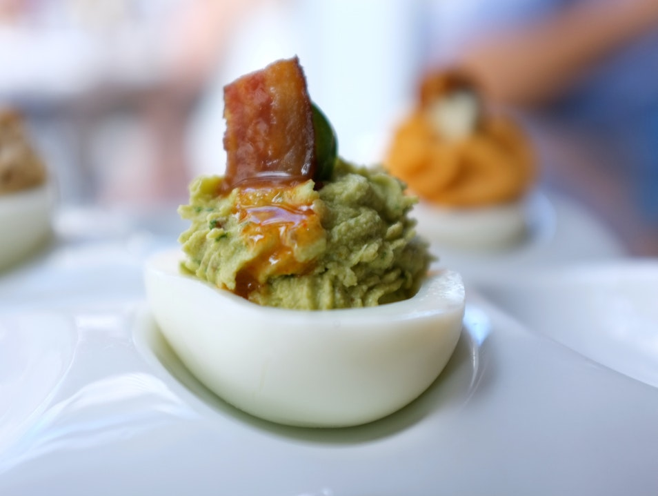 The Fiendishly Good Deviled Eggs at z grille