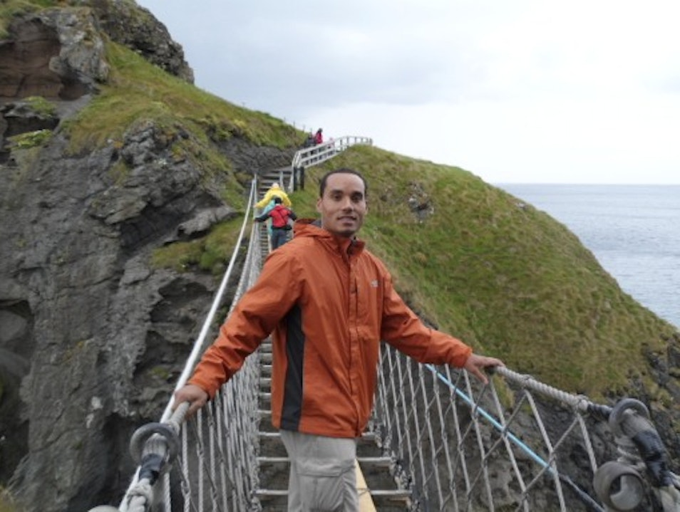 Crossing the Carrick-a-Rede...