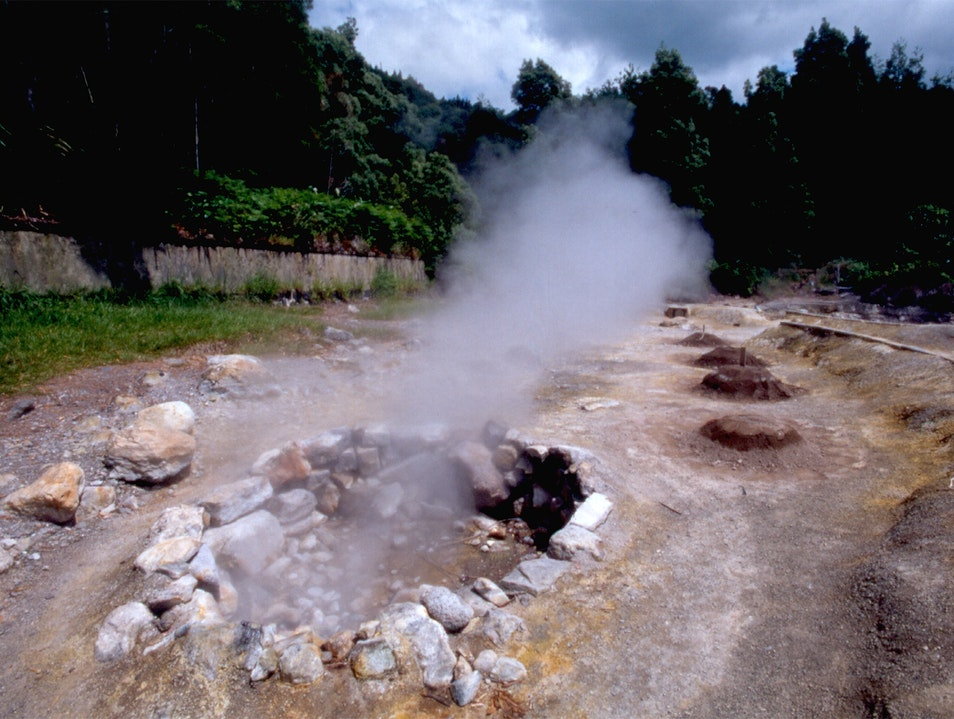 Volcano Stew in the Azores Islands Furnas  Portugal