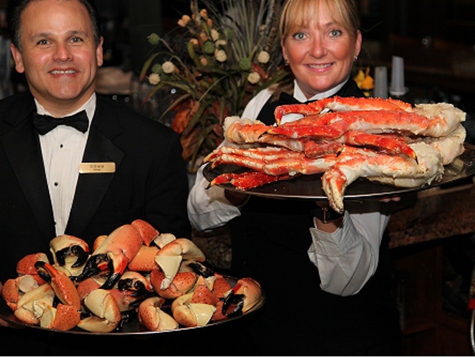 Stone Crab and Tarpon Feeding at Billy's Stone Crab Hollywood Florida United States