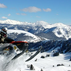 Park City Snowmobiling At Thousand Peaks