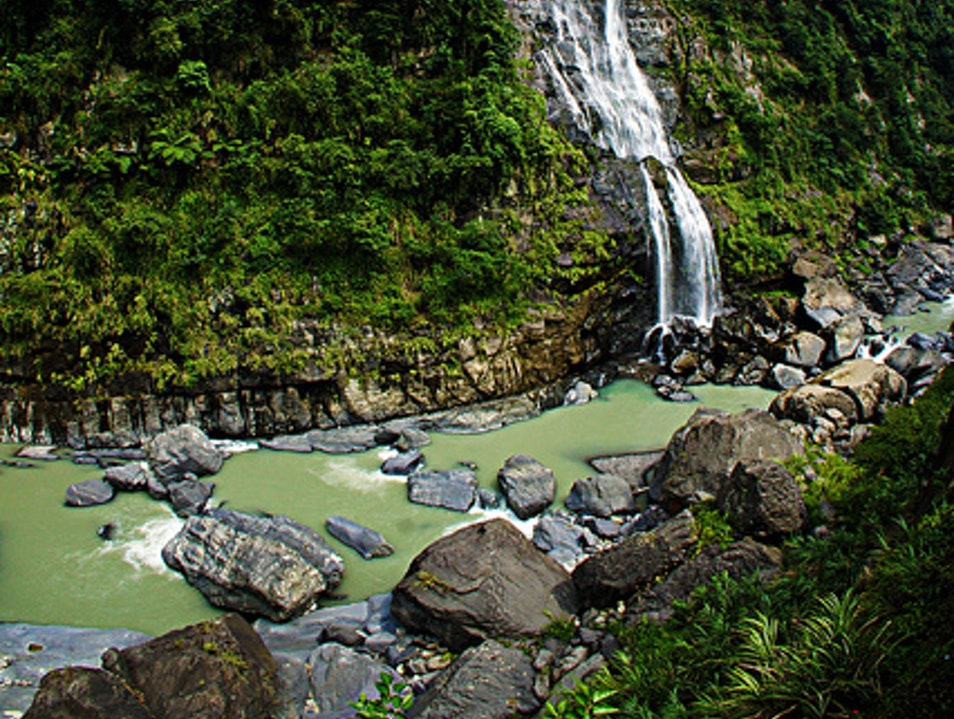 The waterfalls of Wulai  Wulai District  Taiwan