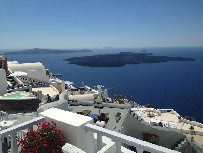 Breathtaking View of Santorini from your Room