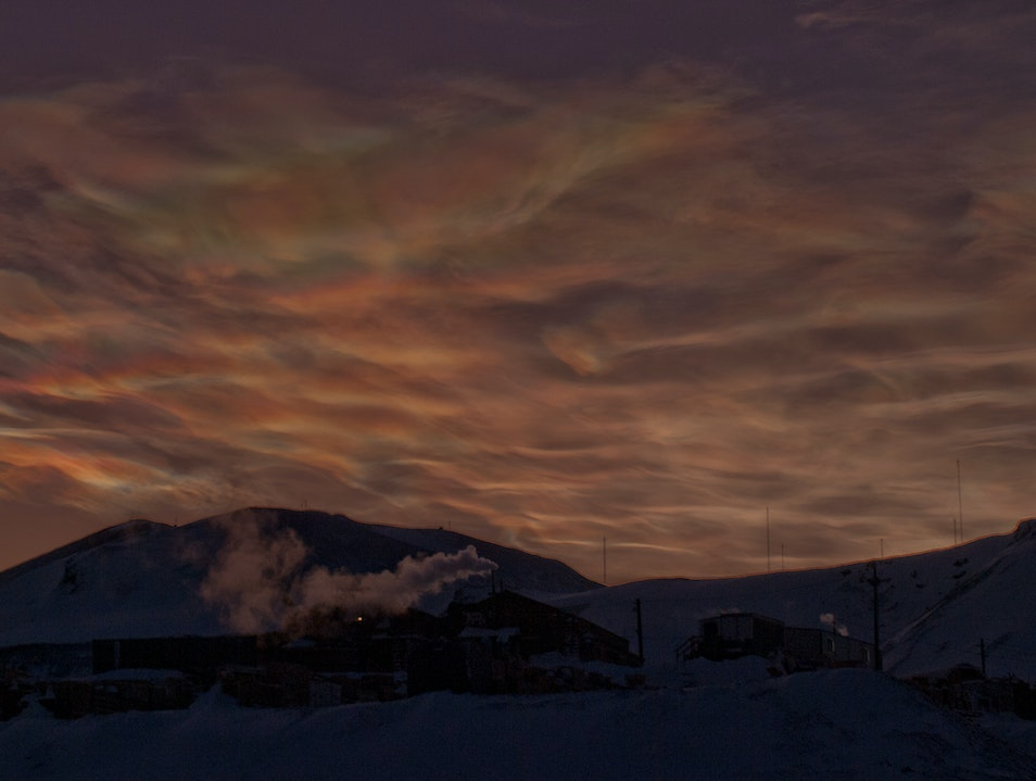 Mars-like Skies McMurdo Station  Antarctica