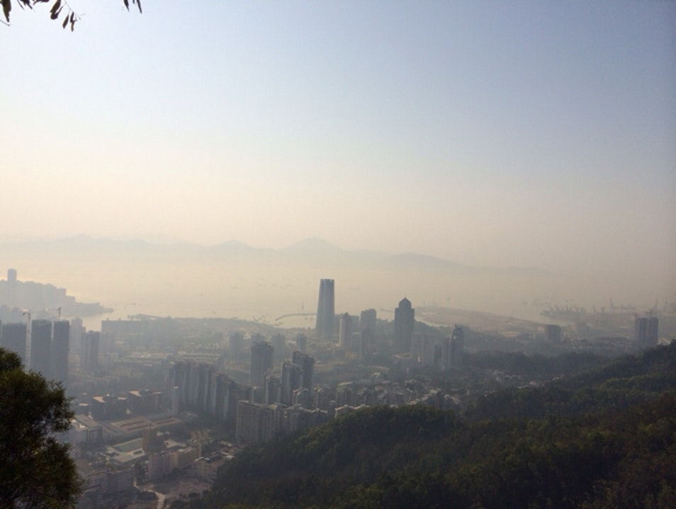 A gorgeous view from NanShan Mountain Shenzhen  China