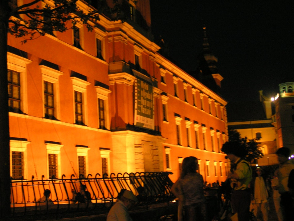 Old town by night Warsaw  Poland