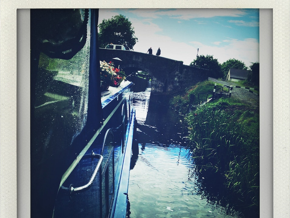 Barging Down the Royal Canal, Kildare Meath  Ireland
