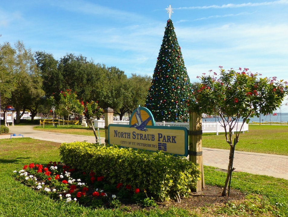 Christmas Comes to St Pete St. Petersburg Florida United States