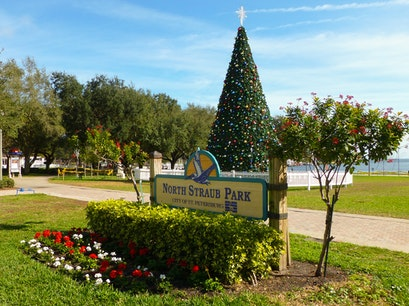 Christmas: North Straub Park St. Petersburg Florida United States