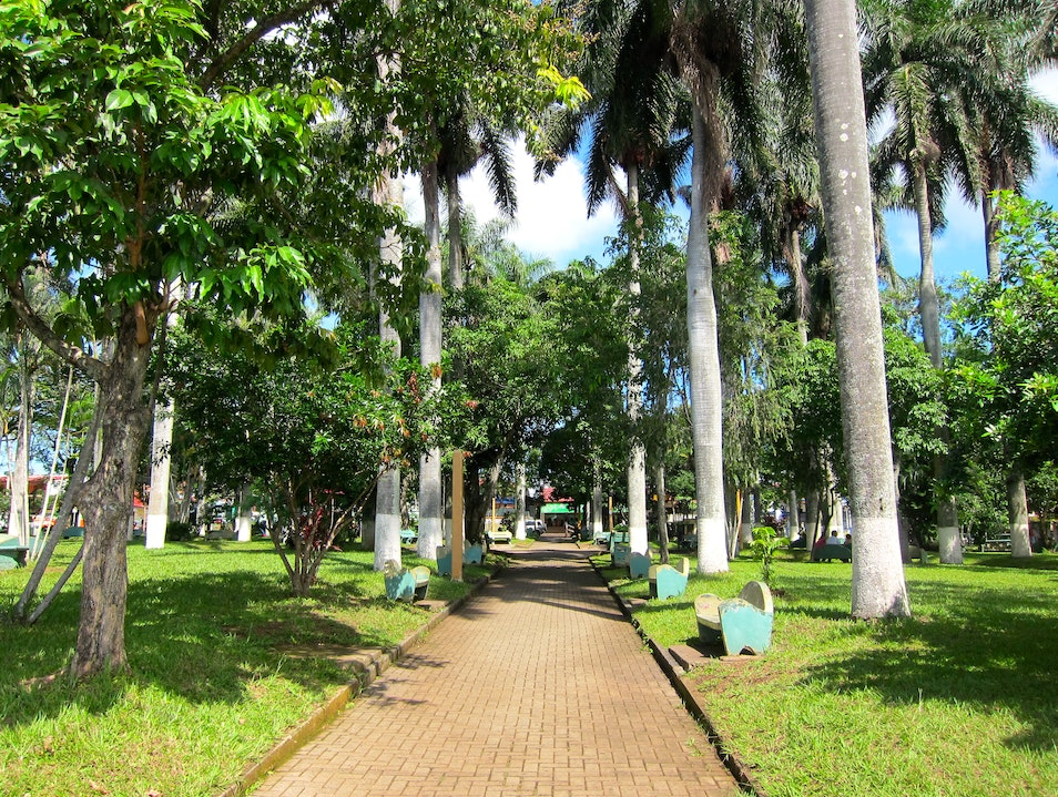 Small Town Central Park Atenas Canton  Costa Rica