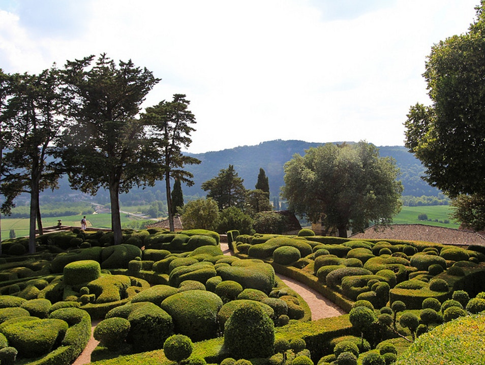 A View of the Dordogne from the Gardens of Marqueyssac Vézac  France
