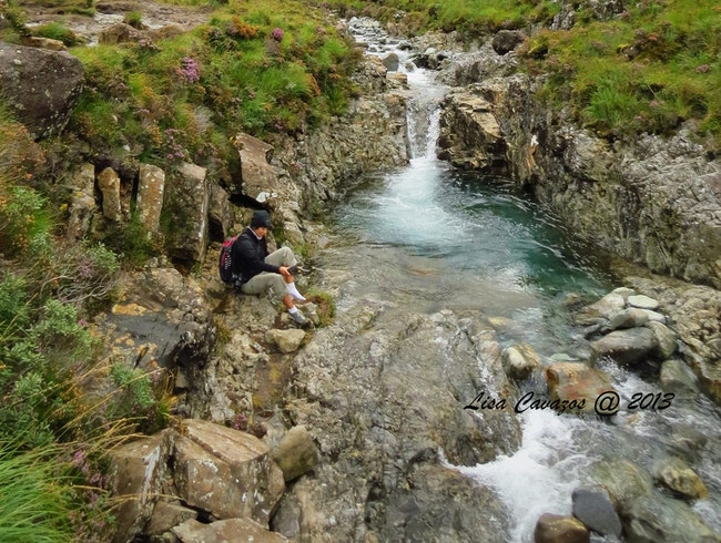 A dip in the Fairy Pools.