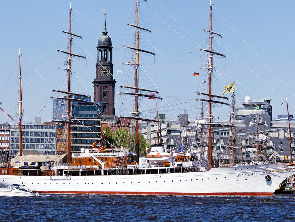 Yachts and Cruise Ships  Hamburg  Germany