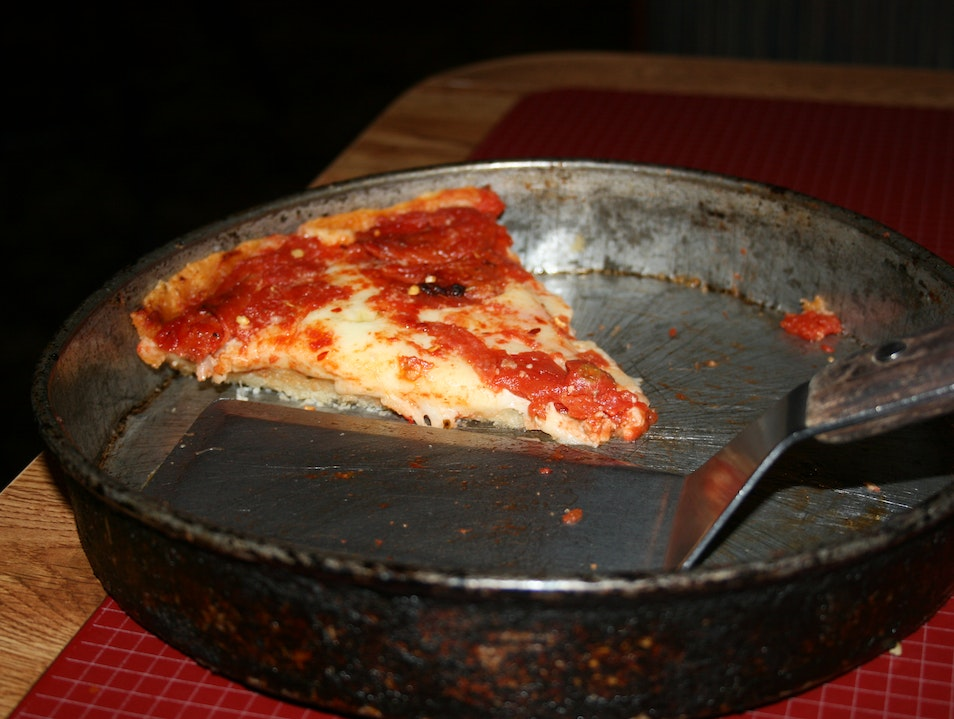 Chicago's Deep Dish Pizza Chicago Illinois United States