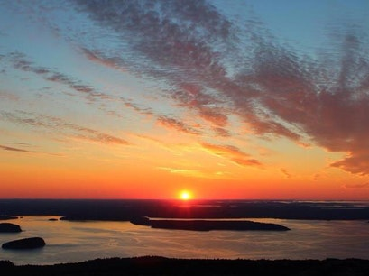 Summit of Cadillac Mountain , Acadia National Park Bar Harbor Maine United States